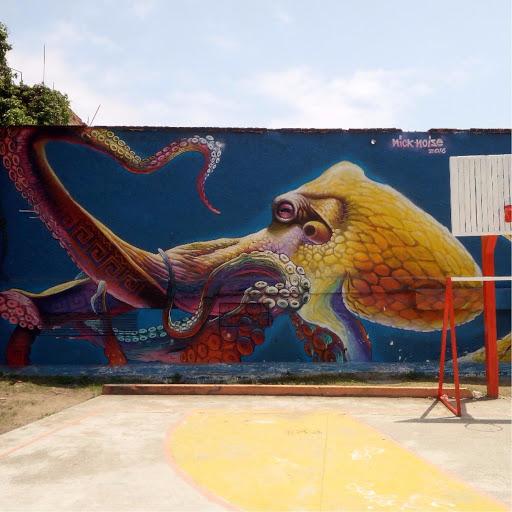 octopus street art puerto vallarta