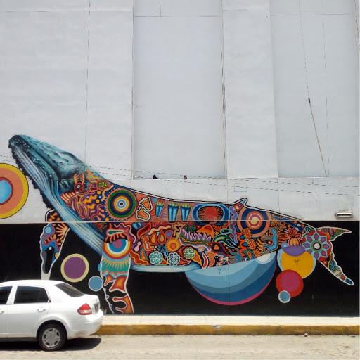 huichol whale puerto vallarta street art
